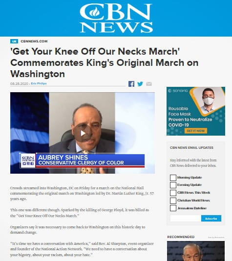 Bishop Aubrey Shines Condemns Rev Al Sharpton, 'Get Your Knee Off Our Necks March'