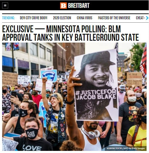 Breitbart Exclusive – Minnesota Polling: BLM Approval Tanks in Key Battleground State