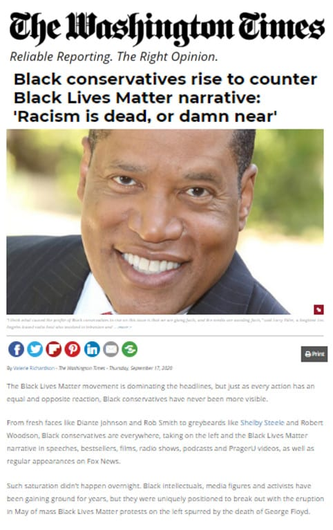 "Washington Times: Conservative Clergy of Color's New Diversity Training Alternative ""Getting to All Live Matter"" Counters Destructive BLM Narrative"