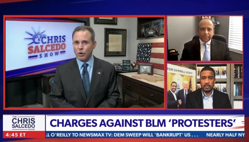 """Aubrey Shines on Newsmax's Chris Salcedo Show Discusses """"Getting to All Lives Matter"""""""